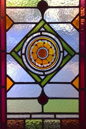 McCabe, Redfern transom, sunflower detail